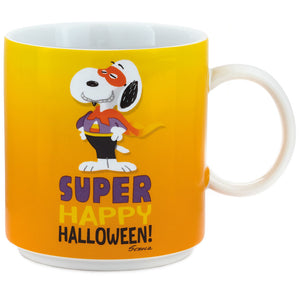 Hallmark Peanuts Snoopy Super Happy Halloween Ceramic Coffee Mug New