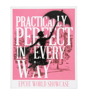 Disney Parks Mary Poppins Practically Perfect in Every Way Magnet New