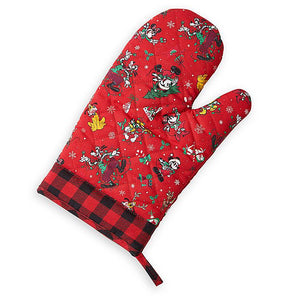 Disney Parks Yuletide Farmhouse Mickey Friends Holiday Oven Mitt New with Tag