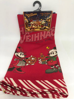 Disney Parks Epcot Germany Mickey Minnie Frohliche Weihnachien Tea Towel Set New