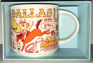 Starbucks Coffee Been There Dallas Texas Ceramic Coffee Mug New with Box