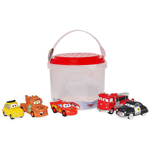 Disney Store Cars Bath Set Lightning McQueen Luigi Sheriff Mater Red New