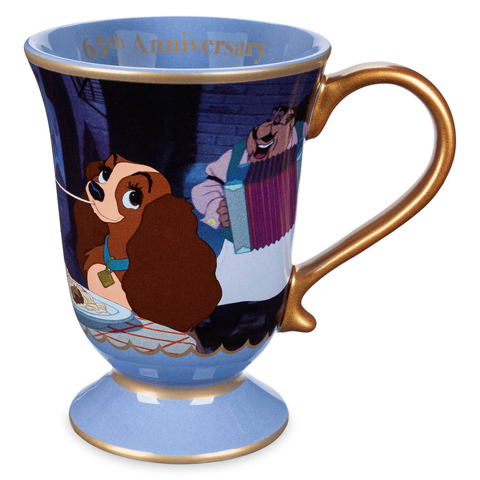 Disney Legacy Lady and the Tramp 65th Anniversary Coffee Ceramic Mug New
