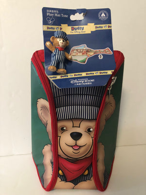 Disney Parks Shanghai Duffy Play Mat Tote with Figurine New with Tags
