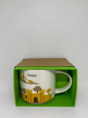 Starbucks Coffee You Are Here Rabat Morocco Ceramic Coffee Mug New with Box