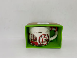 Starbucks Coffee You Are Here Calgary Canada Ornament Espresso Mug New with Box