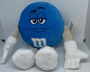 M&M's World Blue Character Big Face Plush New with Tags