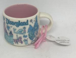 Disney Parks Starbucks Been There California Disneyland Coffee Mug Ornament New