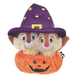Disney Store Japan Chip 'n Dale Halloween Pumpkin Reversible Plush New with Tags