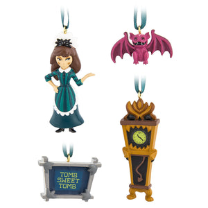 Disney The Haunted Mansion Mini Ornament Set Maid Gargoyle Clock Wall Hanging