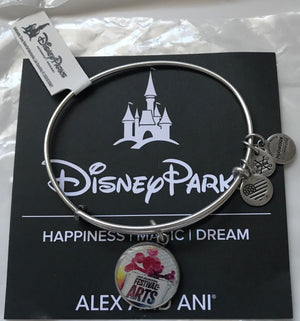 Disney Alex and Ani Epcot Festival Arts Mickey Bangle Silver Finish New