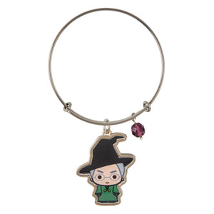 Universal Studios Harry Potter Professor McGonagall Silver Charm Bangle New Tag