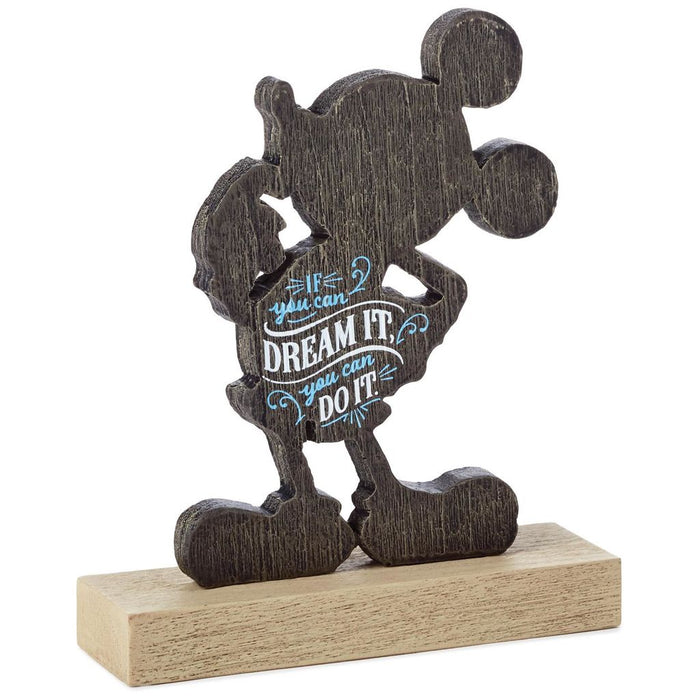 Hallmark Disney Mickey If You Can Dream It You Can Do It Quote Figurine New