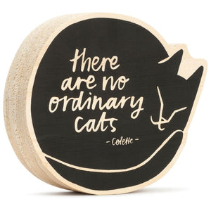 Hallmark There are no Ordinary Cats Wood Quote Sign New