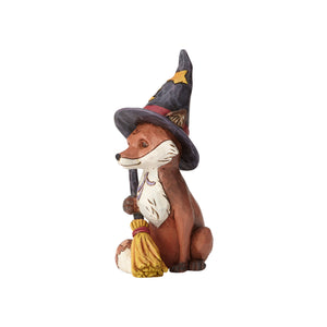 Jim Shore Halloween Mini Fox in Witch's Hat Resin Figurine New with Box