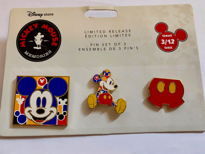 Disney Store Mickey Memories March Pin Set Limited Release New with Card