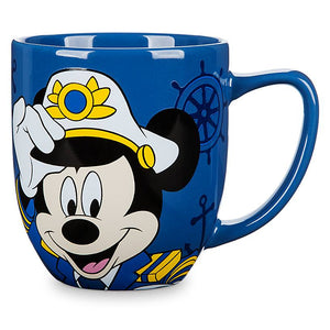 Disney Cruise Line Mickey Mouse Captain Coffee Mug New