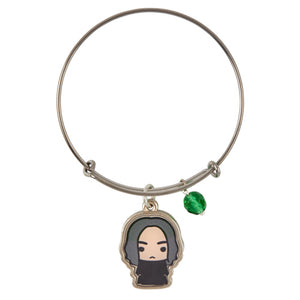 Universal Studios Harry Potter Professor Snape Silver Tone Charm Bangle New Tag