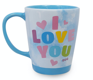 Disney Parks Up I Have Just Met You and I Love You Dug Coffee Mug New