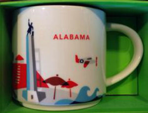 Starbucks You Are Here Alabama Ceramic Coffee Mug New with Box