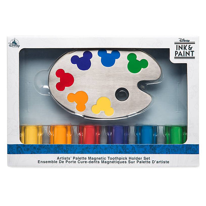 Disney Parks Ink & Paint Magnetic Toothpick Holder Set New with Box