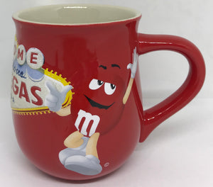 M&M's World Welcome to Fabulous Las Vegas Sign Glitter Coffee Mug New