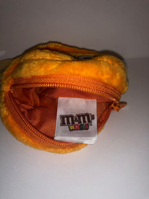 M&M's World Orange Character Coin Purse Plush New with Tags
