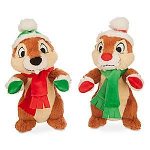 Disney Parks 7inc Chip 'n Dale Holiday Small Plush New with Tags