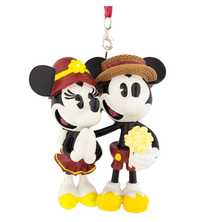 Disney Parks Boardwalk Mickey and Minnie Mouse Ornament New with Tags