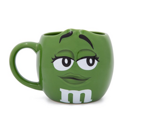 M&M's World Green Character Figural Coffee Mug New