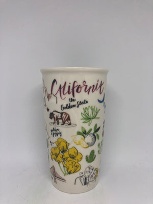 Starbucks California Ceramic Double Wall Tumbler New