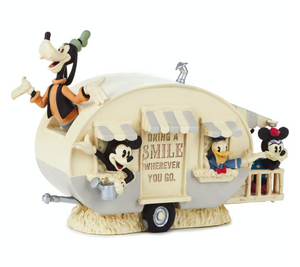 Hallmark Disney Mickey Friends Camper Bring a Smile Wherever You Go Figurine New
