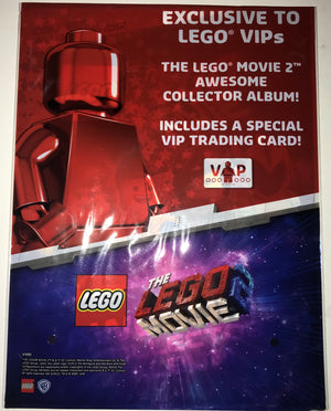 Lego Movie 2 Trading Card Collector Album + 3 Packs Of Trading Cards New