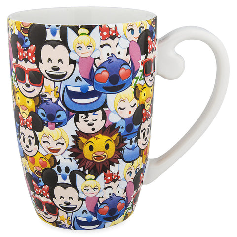 Disney Parks Mickey & Friends Emoji Ceramic Coffee Mug