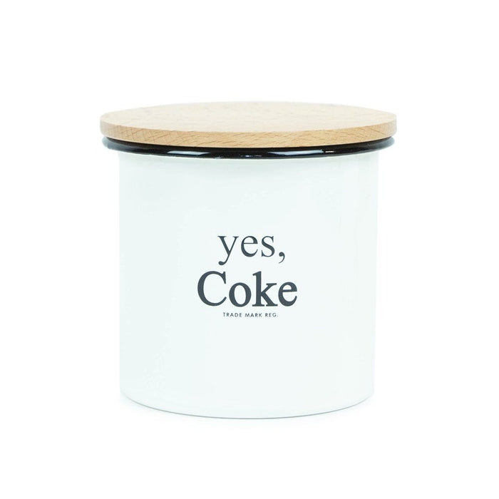 Authentic Coca-Cola Coke Enamelware Canister Small New