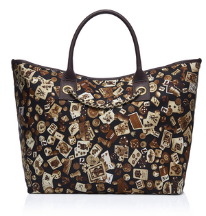 Macao Life is a Game All Dark Brown Tote Bag Made in Italy by Divo Diva New