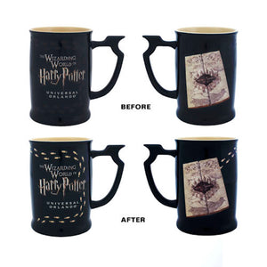 Universal Studios Harry Potter Marauder's Map Heat Reactive Coffee Mug New
