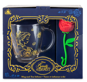 Disney Beauty and the Beast Mug and RoseTea Infuser Set New with Box