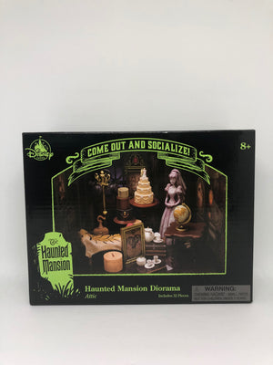 Disney Parks Haunted Mansion Diorama Attic 32 Pieces New with Box