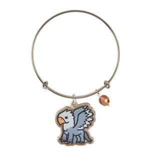 Universal Studios Harry Potter Buckbeak Silver Tone Charm Bangle New with Tag