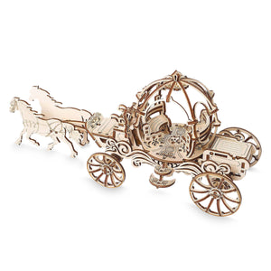 Disney Parks Cinderella Carriage Wooden Puzzle Working Mechanical Model New Box