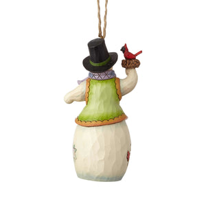 Jim Shore Snowman with Cardinal Christmas Ornament New with Box