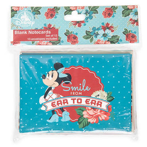Disney Parks Back in the Day Mickey and Minnie Mouse Retro Notecard Set New