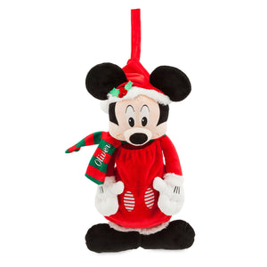 Disney Chear Santa Mickey Mouse Stocking Plush New with Tags