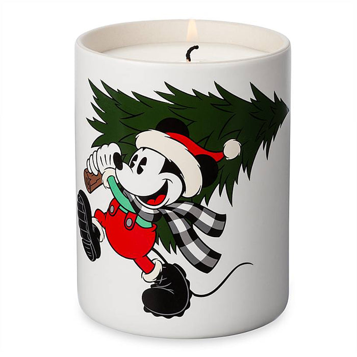 Disney Parks Yuletide Farmhouse Mickey Mouse Holiday Scented Candle New