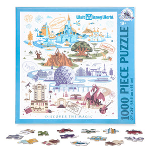 Disney Walt Disney World Resort Map Jigsaw Puzzle 1000 pcs New with Box