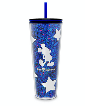 Disney WDW Wishes Come True Blue Mickey Tumbler with Straw by Starbucks New