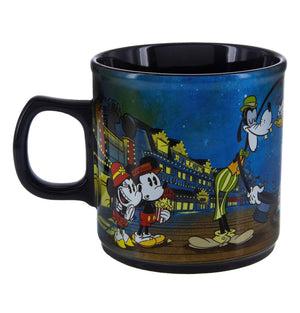 Disney Parks Mickey and Minnie Boardwalk Resort Ceramic Coffee Mug New