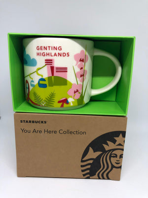Starbucks You Are Here Genting Highlands Ceramic Coffee Mug New with Box