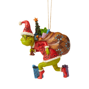 Jim Shore Grinch Tiptoeing Christmas Ornament New with Box